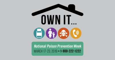 Poison Prevention Week 2019 March 17 to 23 phone 800-222-1222